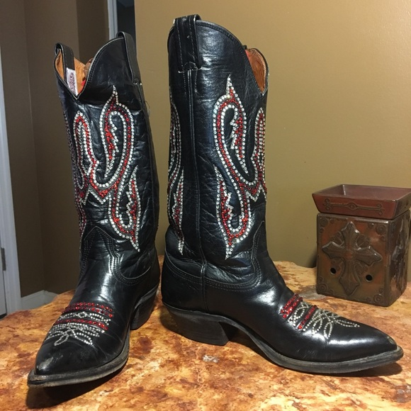 739b3822cbe Custom Bling Cowgirl boots adult size 6